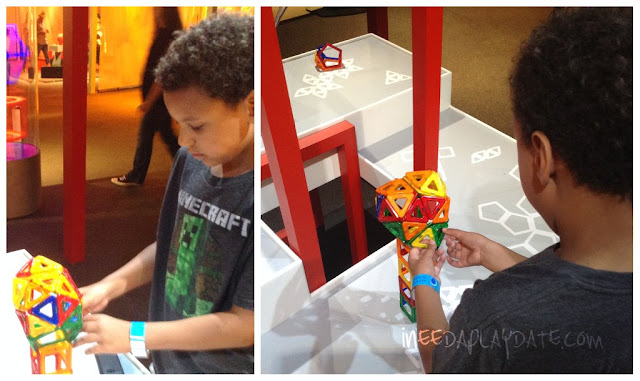 Magentic shapes at Great Lakes Science Center this Summer #thisiscle | @mryjhnsn