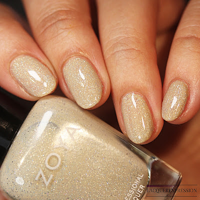 Nail polish swatch of Brighton from the trio of holographic polishes from the Winter Holo collection by Zoya