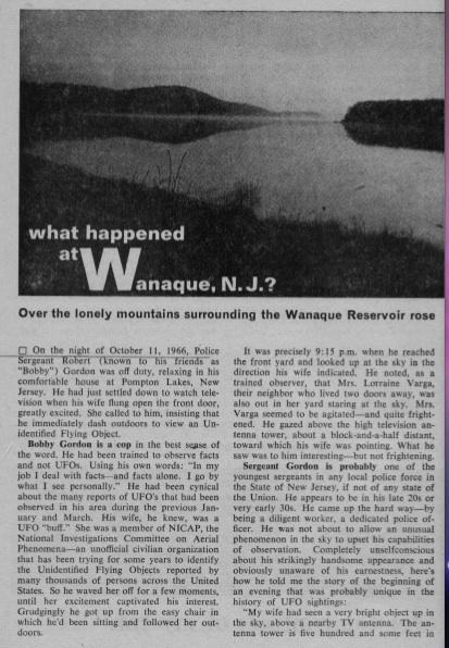 UFOs Over The Wanaque Reservoir