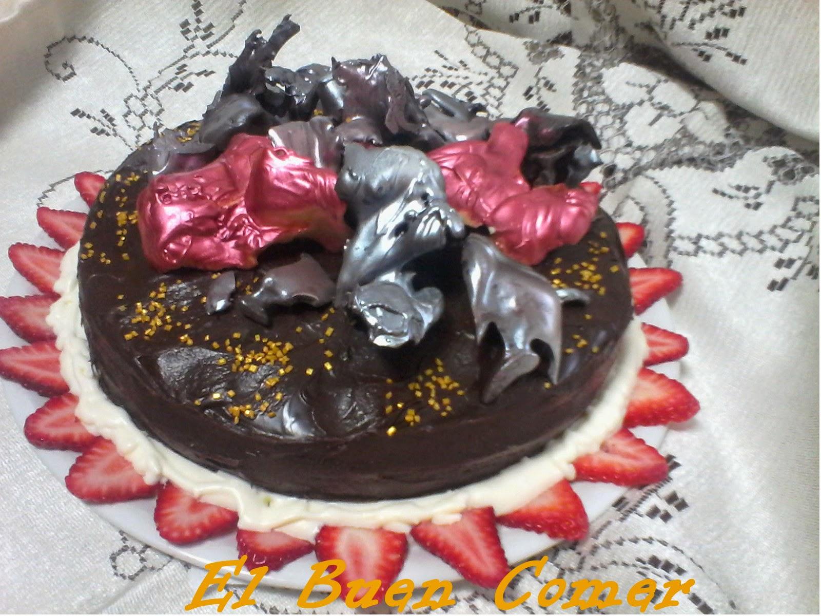 El Buen Comer Tarta Con Adornos De Chocolate - Adornos-tarta