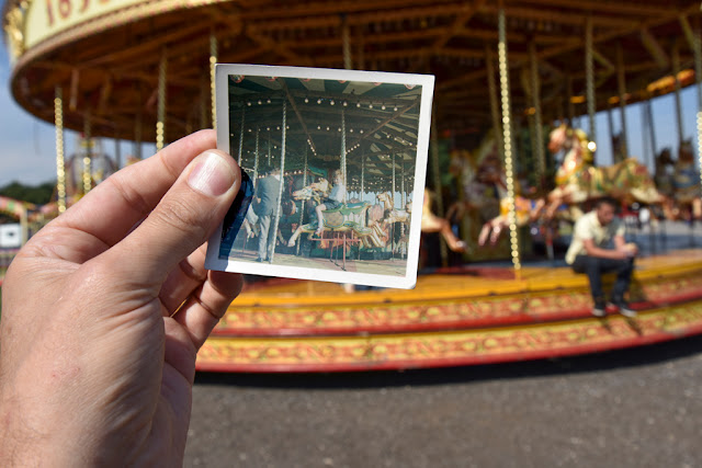 Carousel selfie - steam rally, Lincolnshire Showground