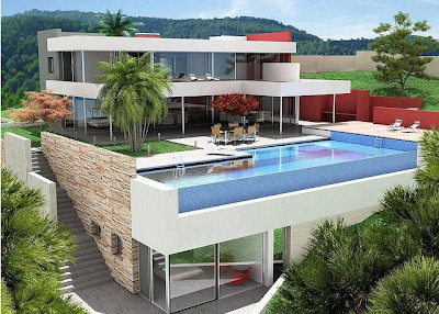 desain kolam renang di lantai atas rumah ~ design rumah