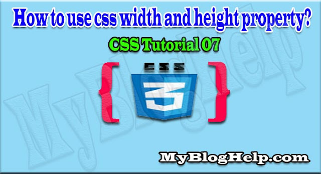 css width and height properties