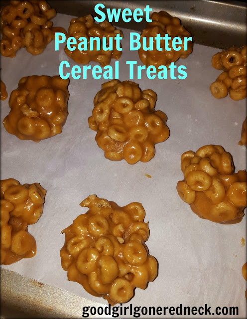 recipe, dessert, snack, cereal, no-bake, treats, holiday candy, holiday dessert, cookie-like, gluten free, nut free, peanut butter, super sweet