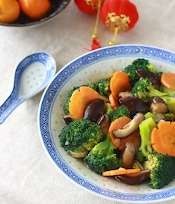 chinese vegetable stir fry recipe with broccoli and mushroom