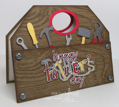 ODBD Tool Time Dies, ODBD Workshop Tools Dies, ODBD Wood Background, ODBD Father's Day Tools, Card Designer Angie Crockett
