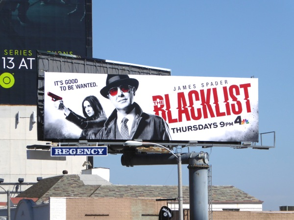 The Blacklist series 3 billboard