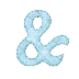 Alfabeto Celeste con Puntadas.