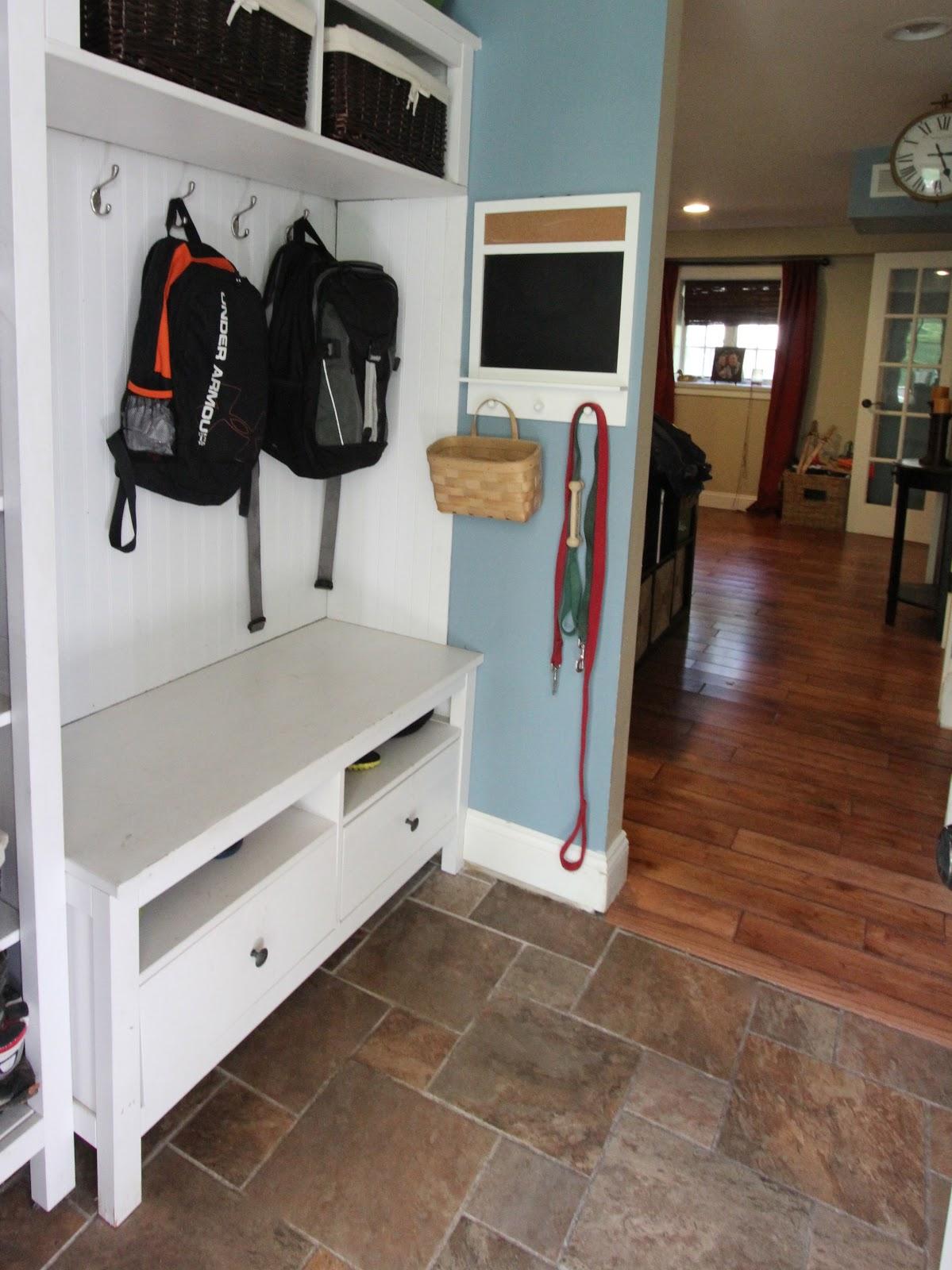Mudroom Repurposed Ikea Hemnes Bookshelves