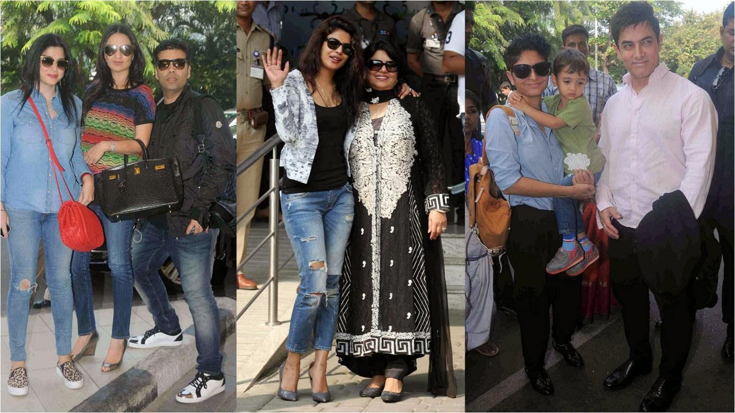 Bollywood celebs at Mumbai Airport