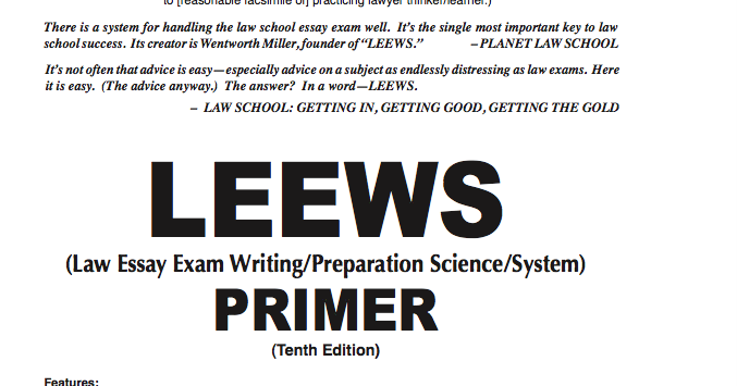 the law essay exam writing system