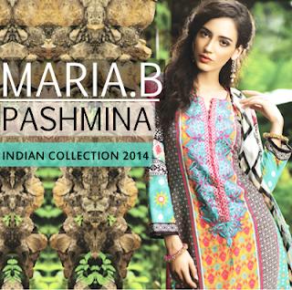 Maria B Pashmina Indian Collection 2014
