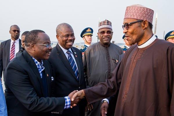 Photos: President Muhammadu Buhari Lands Safely In China