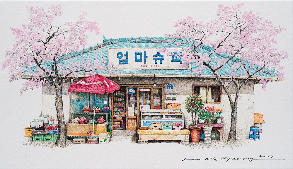 06-Momsuper-Me-Kyeoung-Leehas-Pencil-Drawings-of-Convenience-Stores-in-South-Korea-www-designstack-co