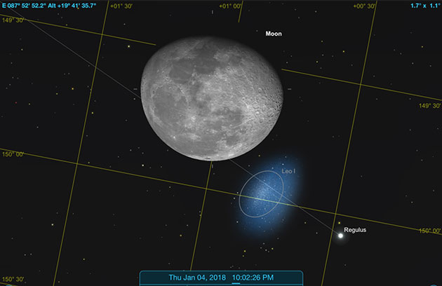 Sky Safari Pro predicts near occultation miss in Orange County (Source: Palmia Observatory)