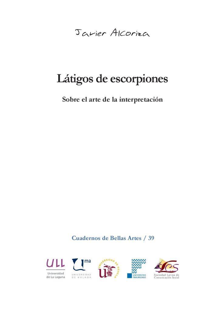 Látigos de escorpiones – Javier Alcoriza