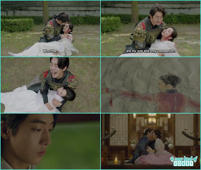 baek ah cried on woo hee - Moon Lovers Scarlet Heart Ryeo - Episode 19