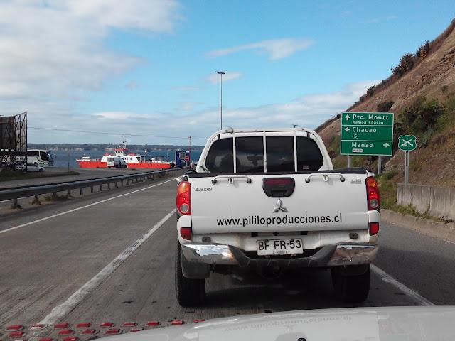 Ferry en Chacao, Isla Grande de Chiloé, Chile