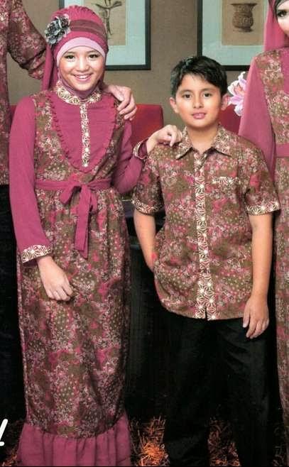 Model baju muslim modern, Contoh baju batik muslim anak modis dan trendy