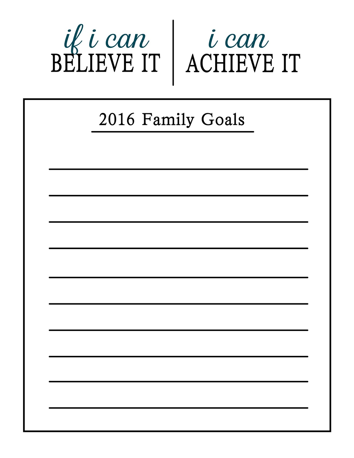 Pillow Thought New Year New Goals Free Printable