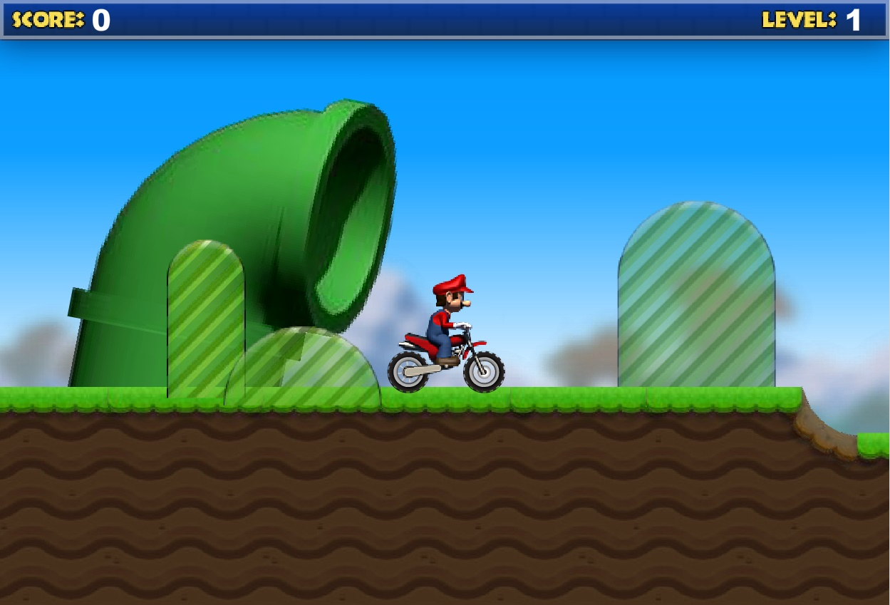 Mario Bike Recharged Play Free Online Facebook Game ... Funny Games Online Free
