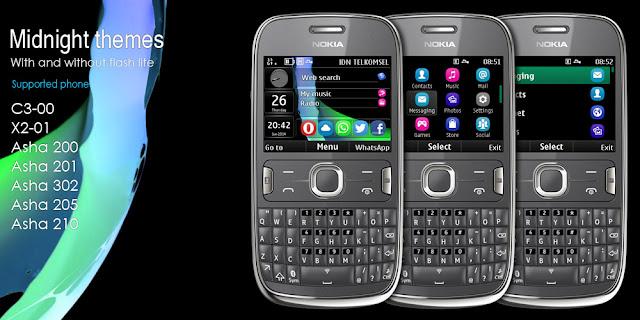 Midnight theme for Nokia Asha 302 320x240 s406th