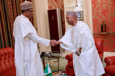 Buhari Meets Former VP Sambo In Aso Rock