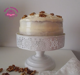 Tarta de calabaza y nueces con crema de queso