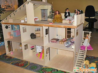 Doll house with veranda