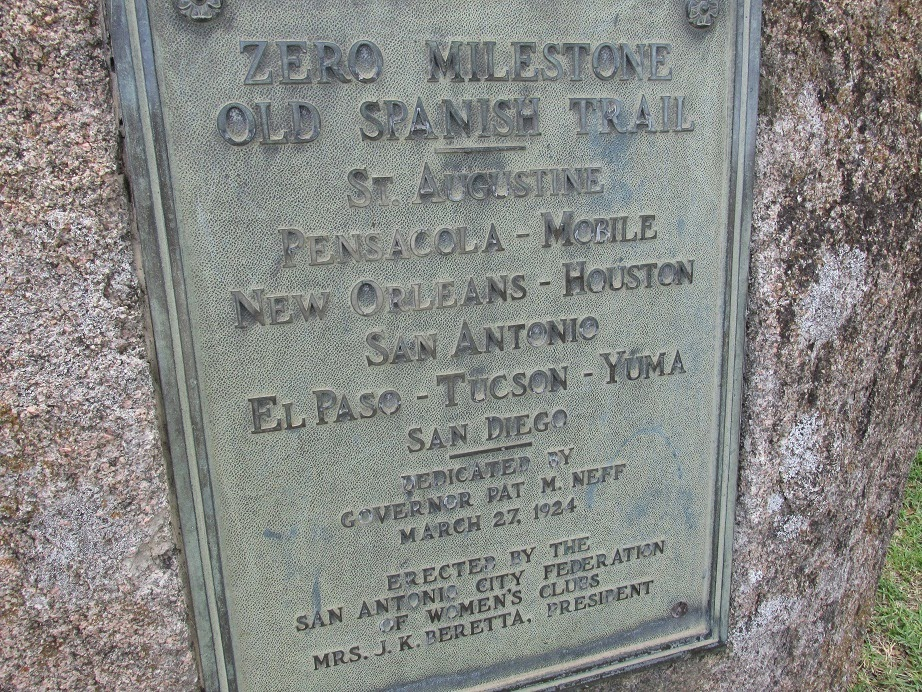 old spanish trail marker plaque
