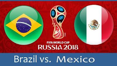 موعد عرض مباراة البرازيل والمكسيك  بتاريخ 02-07-2018 كأس العالم 2018 والقنوات الناقلة لها