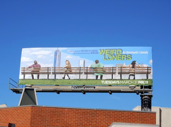 Weird Loners series premiere billboard