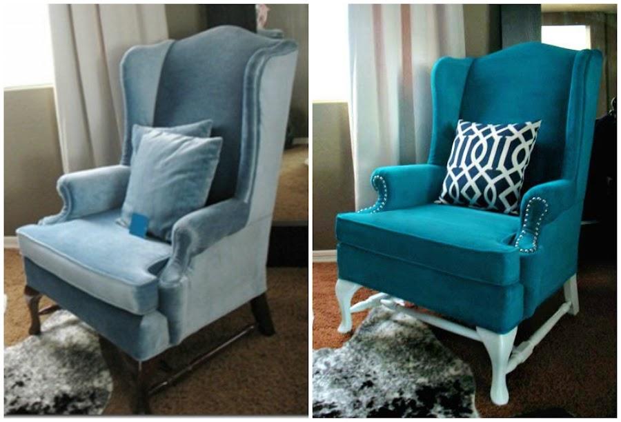 Tutorial c mo pintar el tapizado de un sill n bricolaje - Como forrar una silla de escritorio ...