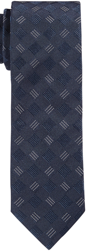 BOSS Hugo Boss Dark Blue Diagonal Grid Tie