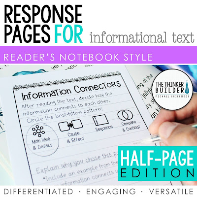 https://www.teacherspayteachers.com/Product/Reading-Response-Pages-for-Informational-Text-HALF-PAGE-SET-1045191?utm_source=Blog%20Post%20Inquiry%20Research&utm_campaign=RN%20Info