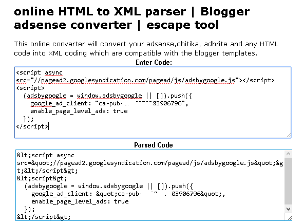 how to save adsense verification code in blogger html template