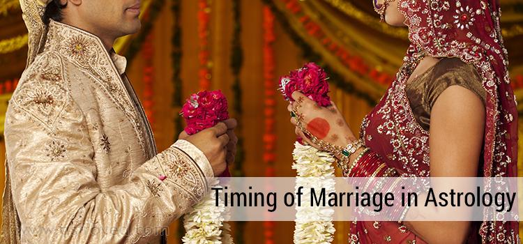 Detailed analysis of Timing of Marriage using Vimshottari