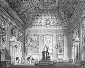 The Cupola Room, Kensington Palace, from The History  of the Royal Residences by WH Pyne (1819)