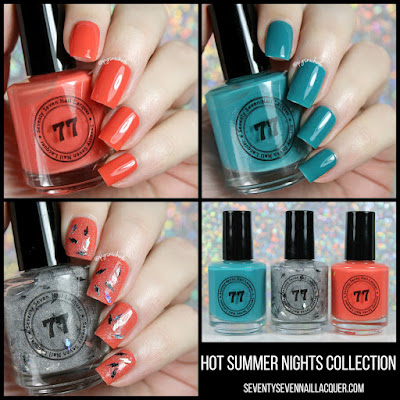 Seventy Seven Nail Lacquer Hot Summer Nights Trio