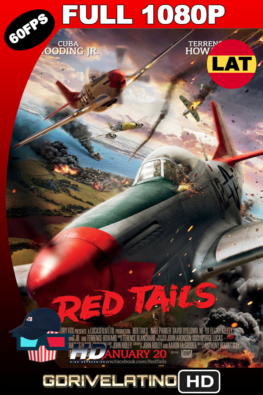 Red Tails (2012) BDRip FULL 1080p (60FPS) Latino-Inglés MKV