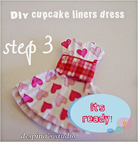 DIY cucpake liners dress step 3