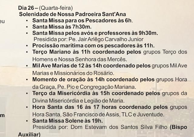 Dia 26 é festa da Padroeira do Rio Vermelho, confira a programação religiosa