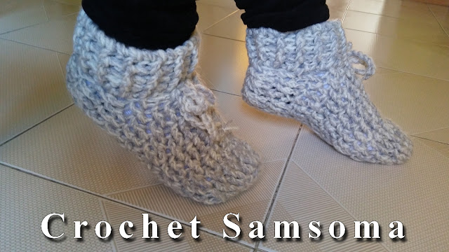 كروشيه جوارب . كروشيه سليبر شتوي لأي مقاس . Crochet Slippers .  كروشيه سليبر  . كروشيه جوارب لأي مقاس // DIY: how to crochet socks for any size
