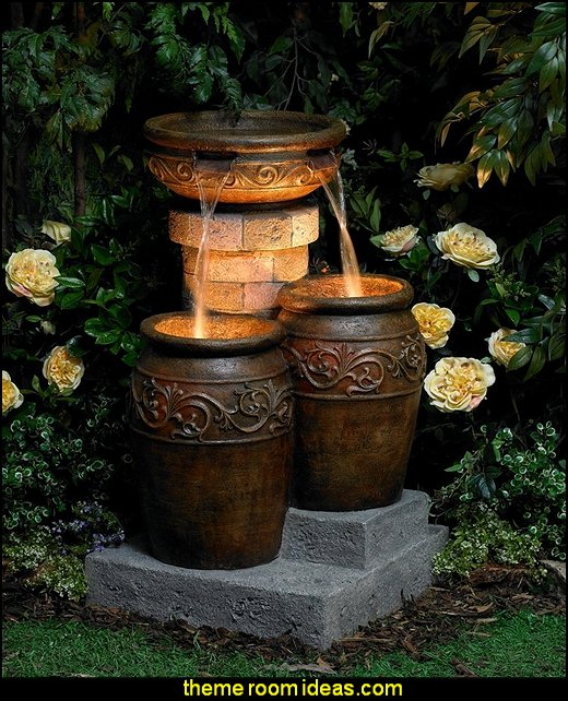Tuscan Patio Floor Fountain