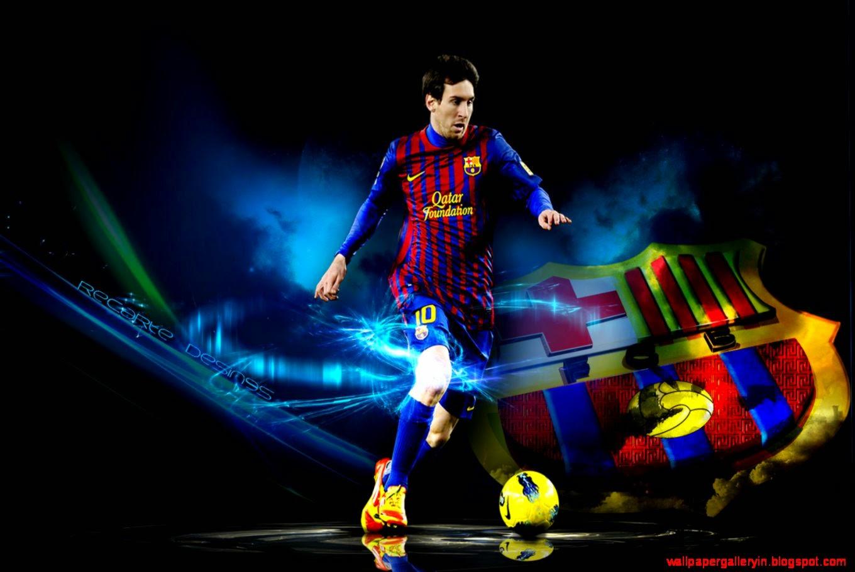Sports Brands Logos Lionel Messi Barcelona 3D Wallpaper Hd