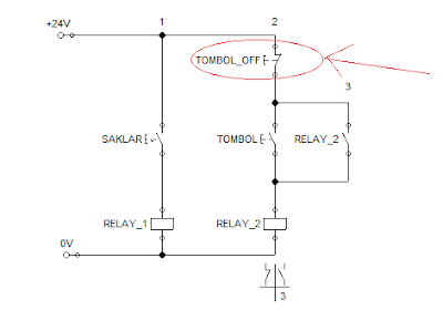 Rangkaian pengunci relay self holding