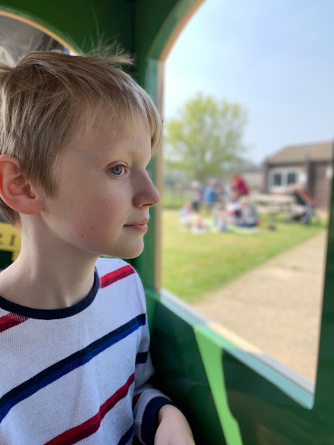 Riding the Tiger Train at Hamerton Zoo Park