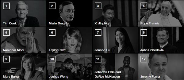《Fortune》2015年全球最偉大領袖,蘋果庫克奪第一名