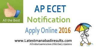 AP ECET Application Form Online, AP ECET 2016, ECET Notification, AP ECET Apply Online from 17 February 2016, AP ECET Notification 2016