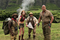 Jumanji: Welcome to the Jungle Jack Black, Kevin Hart, Dwayne Johnson and Karen Gillan Image 4 (7)